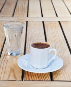 coffee and water